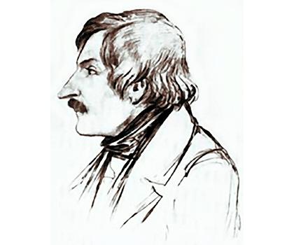 карандашный портрет Гоголя. Автор: Э.А. Дмитриев-Мамонов