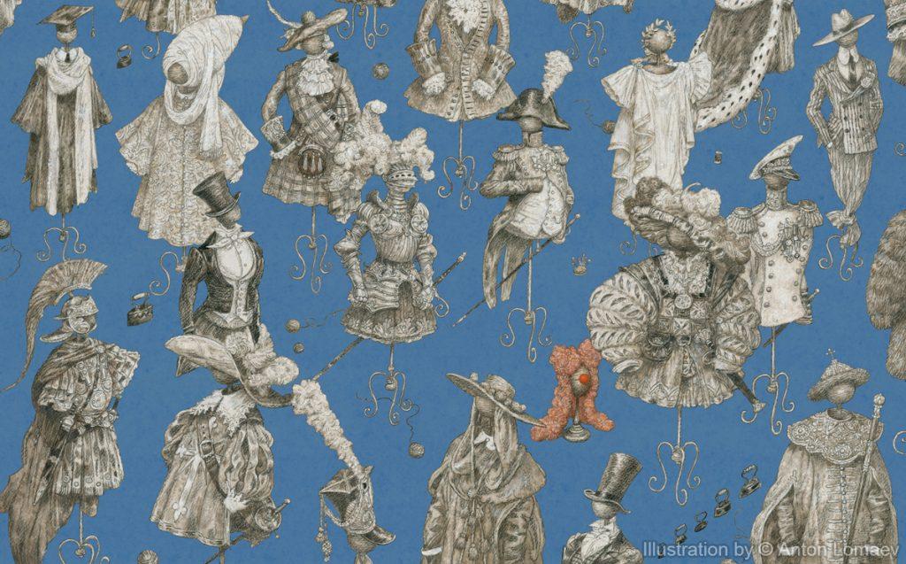Иллюстрация к сказке Г. Х. Андерсена «Новое платье короля»