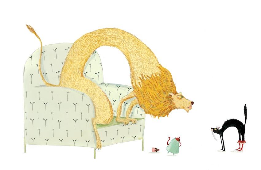 Иллюстрация к книге Le chat botté (Кот в сапогах)