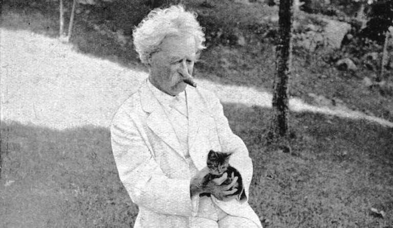 Марк Твен и котёнок