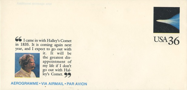 Марк Твен и комета Галлея
