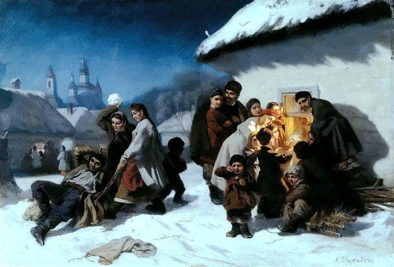 Trutovskij «Kolyadki v Malorossii»